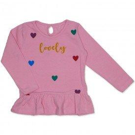 blusa cotton com babado franzido gota nas costas rosa 19053
