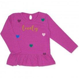 blusa cotton com babado franzido gota nas costas pink 19053