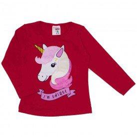 blusa cotton com bordado unicornio coral 19054