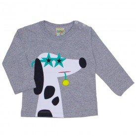camiseta manga longa cachorrinho mescla 8172