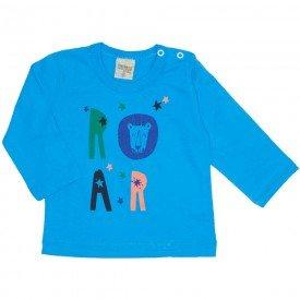 camiseta manga longa roar azul 8174