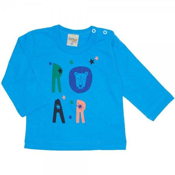 c8305ce06 Camiseta Manga Longa Roar Azul 8174