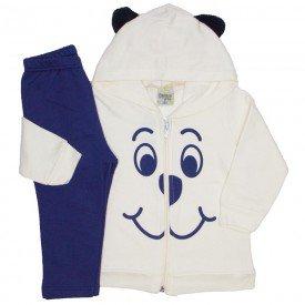 conjunto jaqueta moletom com orelhinhas off white 8160