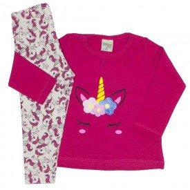 conjunto cotton unicornio pink 8100