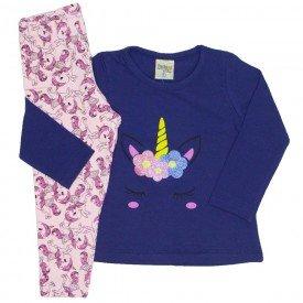conjunto cotton unicornio marinho 8100
