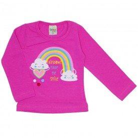 blusa cotton menina smile pink 8114