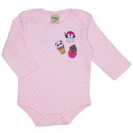 body suedine docinhos rosa bebe 8090