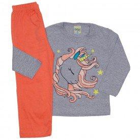 pijama meia malha unicornio mescla 8248