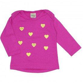 blusa ribana coracoes glitter pink 8088