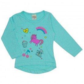 blusa meia malha unicornio verde 8110
