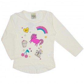 blusa meia malha unicornio off white 8110