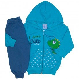conjunto jaqueta verde e calca de moletom 4052