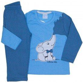 conjunto casaco moletom azul e calca moletom 4058