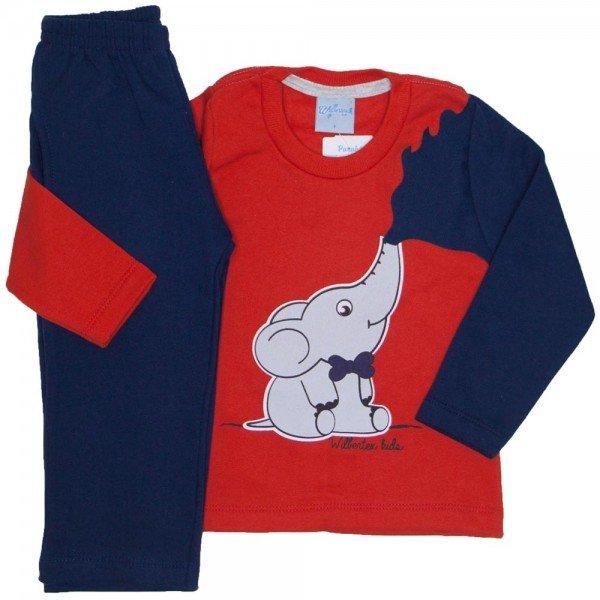 conjunto casaco moletom vermelho e calca moletom 4058