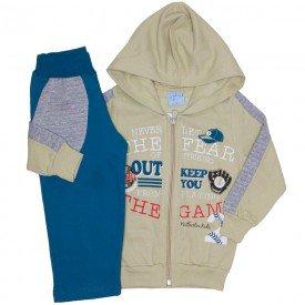 conjunto jaqueta bege e calca moletom petroleo 4065