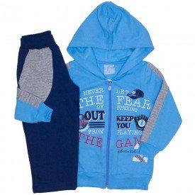 conjunto jaqueta azul e calca moletom marinho 4065