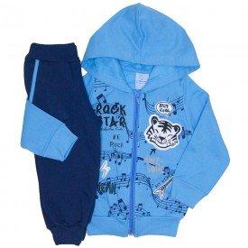 conjunto jaqueta moletom azul e calca 4069