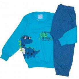 conjunto casaco moletom azul e calca moletom 4059