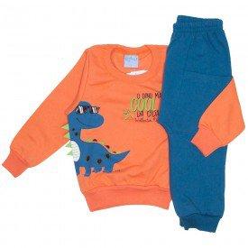 conjunto casaco moletom laranja e calca moletom 4059