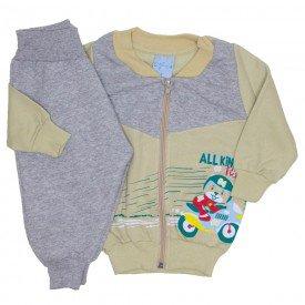 conjunto jaqueta moletom e calca de matelasse off 4056