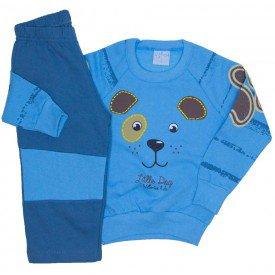 conjunto casaco moletom azul e calca moletom 4062