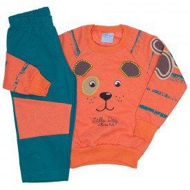 conjunto casaco moletom laranja e calca moletom 4062