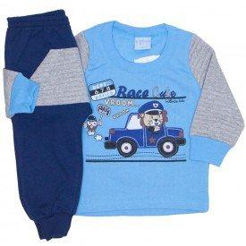 conjunto casaco moletom azul e calca marinho 4054