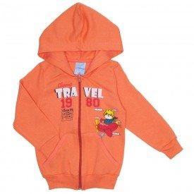 jaqueta de moletom menino laranja 4070