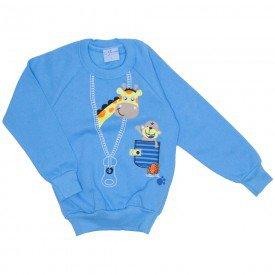 casaco moletom azul girafinha 4067