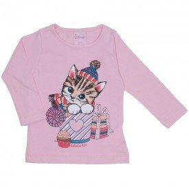blusa de cotton menina rosa 4021