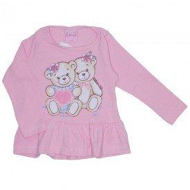 blusa de cotton menina rosa 4023