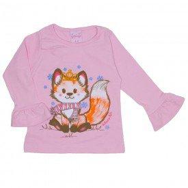 blusa de cotton menina rosa 4020