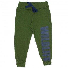 calca jogger moletom elastico barra verde 4276