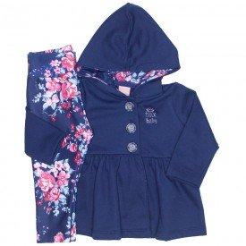 conjunto casaco moletom e legging molecotton marinho 0043