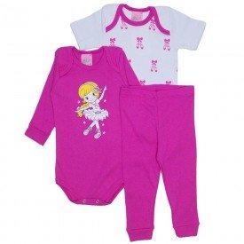 abe518a2a3 kit body manga longa pink body manga curta branca e calca pink 1219