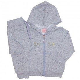 conjunto jaqueta de moletom botone mescla 0049