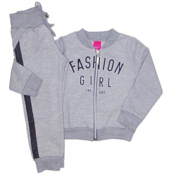 conjunto bomber fashion girl e jogger mescla 1178
