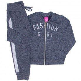 conjunto bomber fashion girl e jogger preto 1178