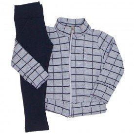 conjunto jaqueta matelasse xadrez grade mescla 1168