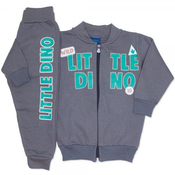 conjunto chumbo jaqueta moletom com ziper little dino 3668