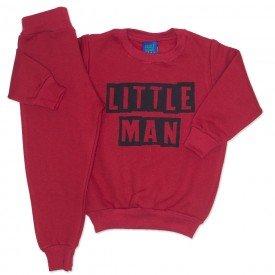 conjunto de moletom vermelho little man 3671