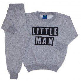 conjunto de moletom mescla little man 3671