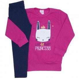 conjunto moletom pink princess e legging marinho 13