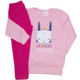 conjunto moletom rosa bebe princess e legging pink 13