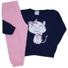 conjunto moletom marinho gatinha e calca rosa 09