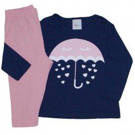 conjunto camiseta marinho meia malha chuva de amor e legging rosa 01
