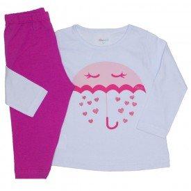 conjunto camiseta branca meia malha chuva de amor e legging pink 01