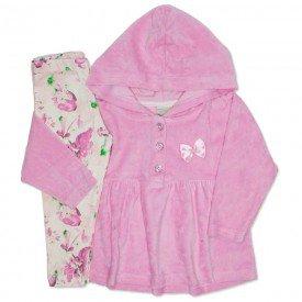 conjunto plush floral rosa bebe 8094
