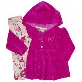 conjunto plush floral pink 8094