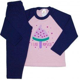 conjunto de moletom rosa bebe i love popsicle 154022